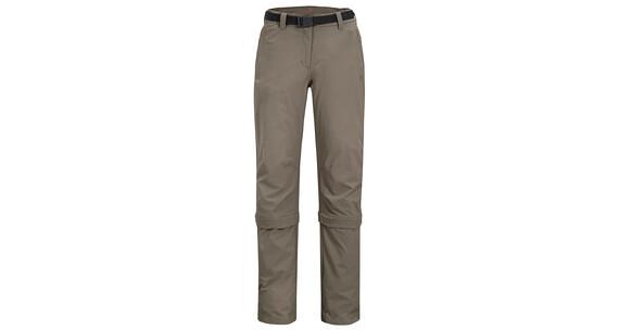 Maier Sports Arolla zip off broek short grijs/bruin